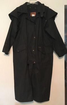 e8f1466292215e OUTBACK TRADING Duster Coat Large Black Oilskin Cotton  2059   OutbackTradingCompany  BasicCoat Duster Coat