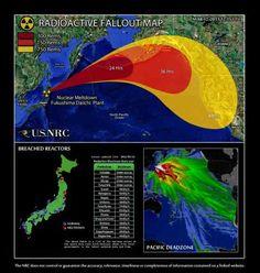 Radio active fallout map from Fukushima-Daiichi.