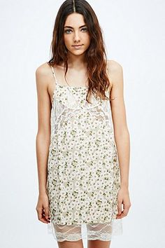 Cooperative Daisy Lace Slip Dress in Cream - Urban Outfitters
