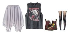 """""""Untitled #1652"""" by sammy-92 ❤ liked on Polyvore featuring Boohoo, Dr. Martens and ZAC Zac Posen"""