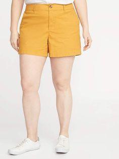 41e64ad569 Mid-Rise Distressed Boyfriend Plus-Size Denim Shorts - 5-inch inseam ...