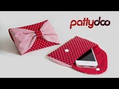▶ cell phone pouch sewing video tutorial by pattydoo - YouTube. The pattern and instructions are so easy any level of experience can do it.