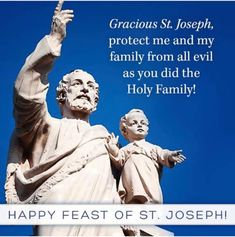 Joseph, protect me and my family from all evil as you did the Holy Family. Catholic Religion, Catholic Quotes, Catholic Prayers, Catholic Saints, Roman Catholic, Catholic Art, St Joseph Feast Day, St Josephs Day, St Joseph Catholic