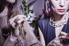 We love the weekend, we love to party and we love to dress up. 💃  ✨ Jewelry can transform any outfit, it can make it more sophisticated, more fun, or look new. ✨  💫 Jewelry in the photo is made by: Izabella Petrut, Caroline Ertl, Michelle Kraemer, Lena Grabher. All jewelry available at Atelier Stossimhimmel. 💫 . . 👯 Model: Anna Reis 📷 Photografer: Lukas Gaechter  . . . #jewellery #contemporaryjewelry #schmuck #schmuckliebe #silberschmuck #goldschmuck #schmuckdesign #ohrringe #ring Anna, Dress Up, Jewellery, Chain, Outfit, Rings, Party, Model, Style