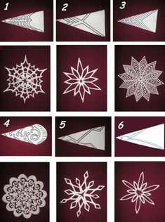 6 most beautiful patterns for cutting out Christmas snowflakes - save and share with friends - samira - Let& Pin This- Cliquez ici pour l'image complète! 6 most beautiful patterns for cutting out Christmas snowflakes – save and share with friends – samira Paper Snowflake Template, Paper Snowflake Patterns, Origami Patterns, Paper Snowflakes, Christmas Snowflakes, Cut Out Snowflakes, Snowflake Craft, Snowflake Snowflake, Paper Patterns