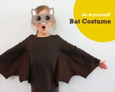 Bat - (for H) You can convert a T-shirt into this cute bat costume in a few quick steps. Head on over to Alpha Mom for all the bat costume details.