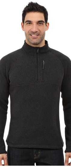 Smartwool Echo Lake Half Zip Top (Charcoal Heather) Men's Fleece - Smartwool, Echo Lake Half Zip Top, SW0SP637010-030, Apparel Top Fleece, Fleece, Top, Apparel, Clothes Clothing, Gift, - Street Fashion And Style Ideas