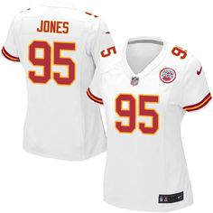 Women s Nike Kansas City Chiefs  95 Chris Jones Elite White NFL Jersey  Broncos 8759d34f3