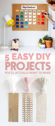 5 Easy DIY Projects You'll Actually Want To Make