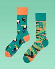 Tropical Heat Socks | mismatched socks | men socks | colorful socks | womens…