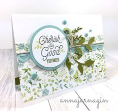 Chelsea Gardens collection CTMH Card art by Anna Jarnagin. January 2018 CTMH Stamp of the Month: Bloom & Grow