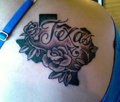 State of Texas flower tat