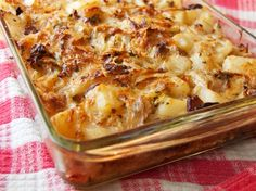 Polish Cabbage, Potato, and Bacon Casserole Recipe - Seems pretty St Patrick-isy to us even though the recipe is Polish. Polish Cabbage, Potato, and Baco - Cabbage And Potatoes, Cabbage And Bacon, Cabbage Recipes, Potato Recipes, Green Cabbage, Russet Potatoes, Green Onions, Bread Recipes, Bacon Casserole Recipes