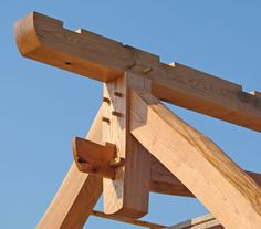 Timber frame joinery.