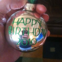 My sons birthday is in December. Last year Mother handed out ornaments as party favors!
