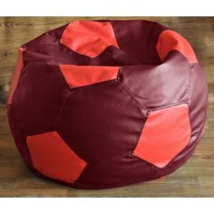 Football Bean Bag XXL Premium : Maroon-Red
