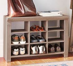 Livingston Entryway Collection, Shoe Storage Cubby #potterybarn
