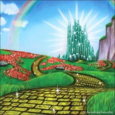 Your number one source for high quality scenic backdrop rentals and sales. Huge selection of backdrop themes for events, recitals, theatre and performing arts. Wizard Of Oz Pictures, Wizard Of Oz Play, Boxing Tattoos, Land Of Oz, Yellow Brick Road, Emerald City, Backdrops Beautiful, The Wiz, Countryside