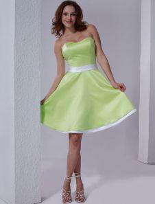 lighter lime green bridesmaids dress  Liz and Twig!