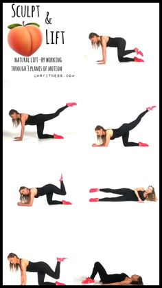 Lower body at home workout routine for women. Build bigger glutes with this no equipment home workout. Fitness Workouts, Yoga Fitness, Gym Workout Videos, Gym Workout For Beginners, Fitness Workout For Women, Easy Workouts, Morning Ab Workouts, Back Workout Women, Workout Videos For Women