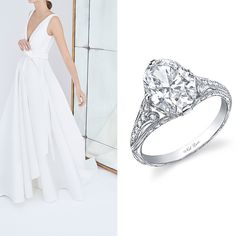 9 Perfect Engagement Rings To Complement This Season's Wedding Dress Trends: Classically Chic; Wedding Dress Trends, Designer Wedding Dresses, Wedding Ideas, Perfect Engagement Ring, Engagement Rings, Bridal Fashion Week, New Trends, Bridal Style, Gowns