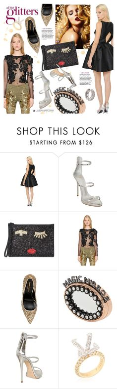 """""""New Year's Eve"""" by luisaviaroma ❤ liked on Polyvore featuring Ingie Paris, Giuseppe Zanotti, Lulu Guinness, Amen., Yves Saint Laurent, Benedetta Bruzziches, Cristiano Pagnini, Marco Ta Moko, women's clothing and women"""