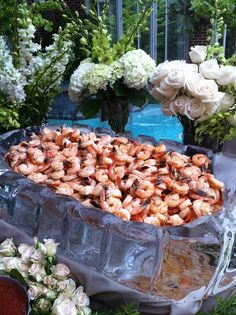 Great Recipes, Snack Recipes, Food Stations, Derby Party, Catering Ideas, Shrimp, Celebrations, Beverages, Dream Wedding