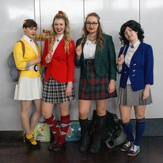 Heather Chandler, Heather Duke, Heather McNamara und Veronica Sawyer aus dem Musical Heathers. Manga-Comic-Con 2018 in Leipzig.