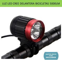 Accesorios ciclismo luces para bicicletas de montaña y paseo. Potente luz LED CREE 5000LM delantera para el manillar de la bici.
