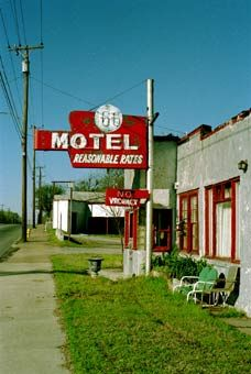 """The former 66 Motel, in western part of Tulsa, advertised """"Reasonable Rates."""""""