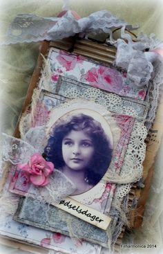 Shabby chic calendar. DT project for Cherish This January