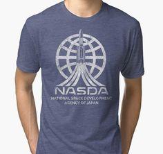 """NASDA Japan Space Agency "" Tri-blend T-Shirts by Lidra | Redbubble"