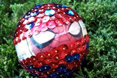 The amazing Spiderman is chafing recycled comic Sequin Ornament. $16.00, via Etsy.