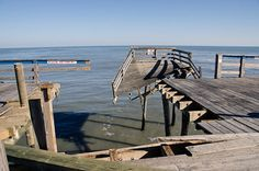 Hatteras Island fishing piers during and after Sandy
