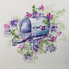 You've got mail! Tutorial coming soon! Subscribe to my YouTube channel so you don't miss it! Link in bio! ✔️ #watercolortheartimpressionsway #artimpressions #watercolor #youvegotmail