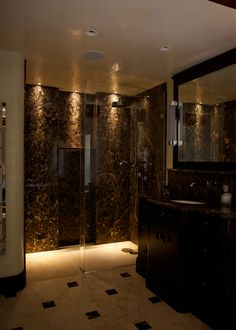 Deco Style Emperador Marble Bathroom