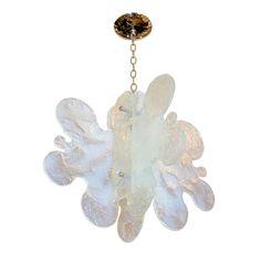 Biomorphic textured glass ceiling fixture | Chandeliers & Pendants | John Salibello