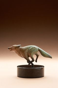 Animals - 3D Forms - bronze fox rust / turquois patina limited edition by Michaeltatom, $725.00