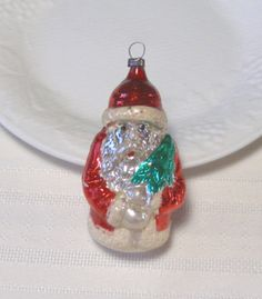 Vintage Mercury Glass Santa Ornament with by iHeartShinyBrite 2013 $27.95