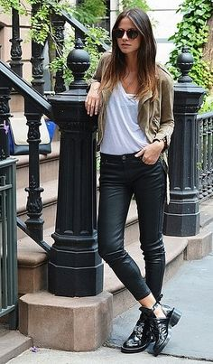 Go Biker-Chic With Boots and Slick Denim