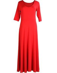 Long Jersey-Dress in Red designed by Manon Baptiste to find in Category Dresses at navabi.de