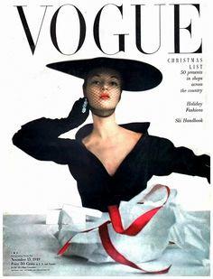Jean Patchett, cover photo by Irving Penn, Vogue, November 1949 Capas Vintage Da Vogue, Vogue Vintage, Vintage Vogue Covers, Vintage Glamour, Vintage Hollywood, Vogue Magazine Covers, Fashion Magazine Cover, Fashion Cover, Fashion Photo