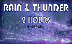 The Sound of Rain with Thunder 2 hours to Relax into DEEP SLEEP RELAXATI...