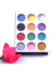 Purchase WHATWEARS 12 Color Fashion Manicure Pedicure Tool Nail Art Dust Glitter Powder Decoration UV Acrylic Gel Tip best price