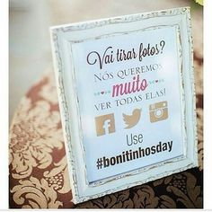 Bom Dia!! 💕💕💕💕💕💕💕💕 #ficaadica os noivos criam a hashtag do casamento e os convidados fazem a festa, ótima ideia, você terá diferentes fotos da visão de cada convidado. 😍😍😍 Via @oivoucasar 🔝🔝🔝🔝🔝🔝 #noivasderecife #noivas2016 #casar2106 #casamento #weddind #instaweddingbloggers