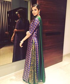 Too long show. Kind of a snooze but cool India life shown. Pakistani Dresses, Indian Dresses, Indian Outfits, Indian Attire, Indian Wear, Blue And Green, Indian Designer Suits, Indian Bridal Fashion, Kurti Designs Party Wear