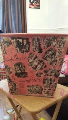 Vintage alice in wonderland toy box just finished for great nieces birthday.x