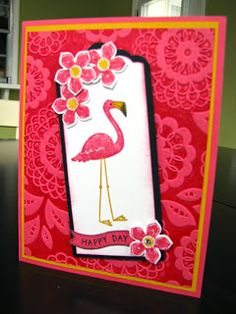 Stamp and Scrapper: Flamingo Lingo March Play Day CASE