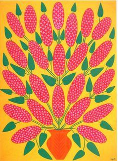 'lilac' - another eye-catcher by ukranian folk artist maria pimenchenko, 1978