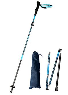 Alafen Aluminum Quick Lock Collapsible Ultralight Walking Climbing Sticks Trekking Hiking Pole Blue 1PC. For product info go to:  https://all4hiking.com/products/alafen-aluminum-quick-lock-collapsible-ultralight-walking-climbing-sticks-trekking-hiking-pole-blue-1pc/